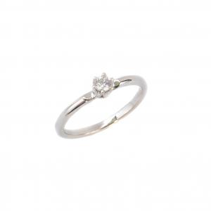 Pierścionek z Brylantami 0,10 ct , klasyczny białe złoto.