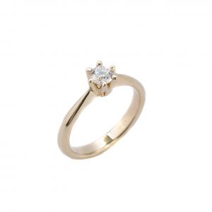 Klasyczny pierścionek z brylantem 0,30 ct