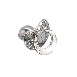 srebrny smoczek do grawerowania na chrzciny
