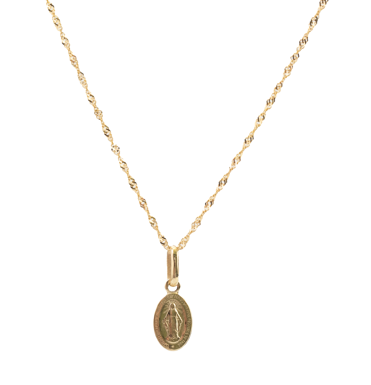 Medalik Matki Boskiej Niepokalanej, dwustronny, cudowny medalik