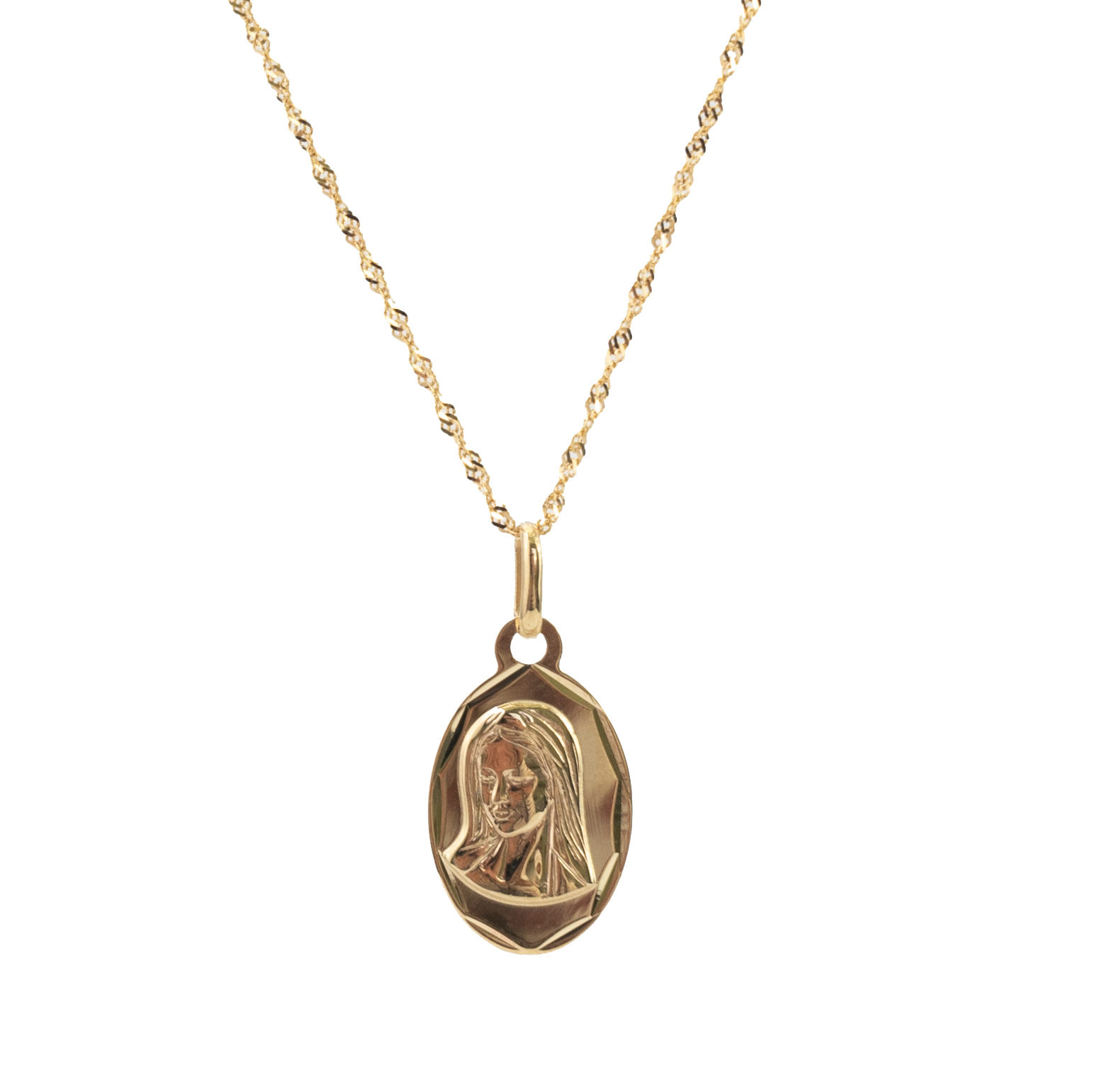 Medalik złoty Matki Boskiej