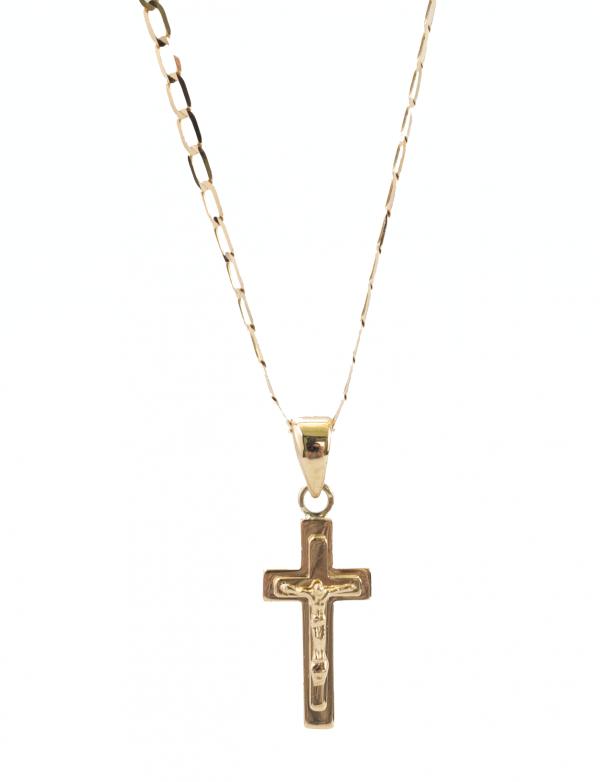 Krzyżyk złoty. Z wizerunkiem Pana Jezusa
