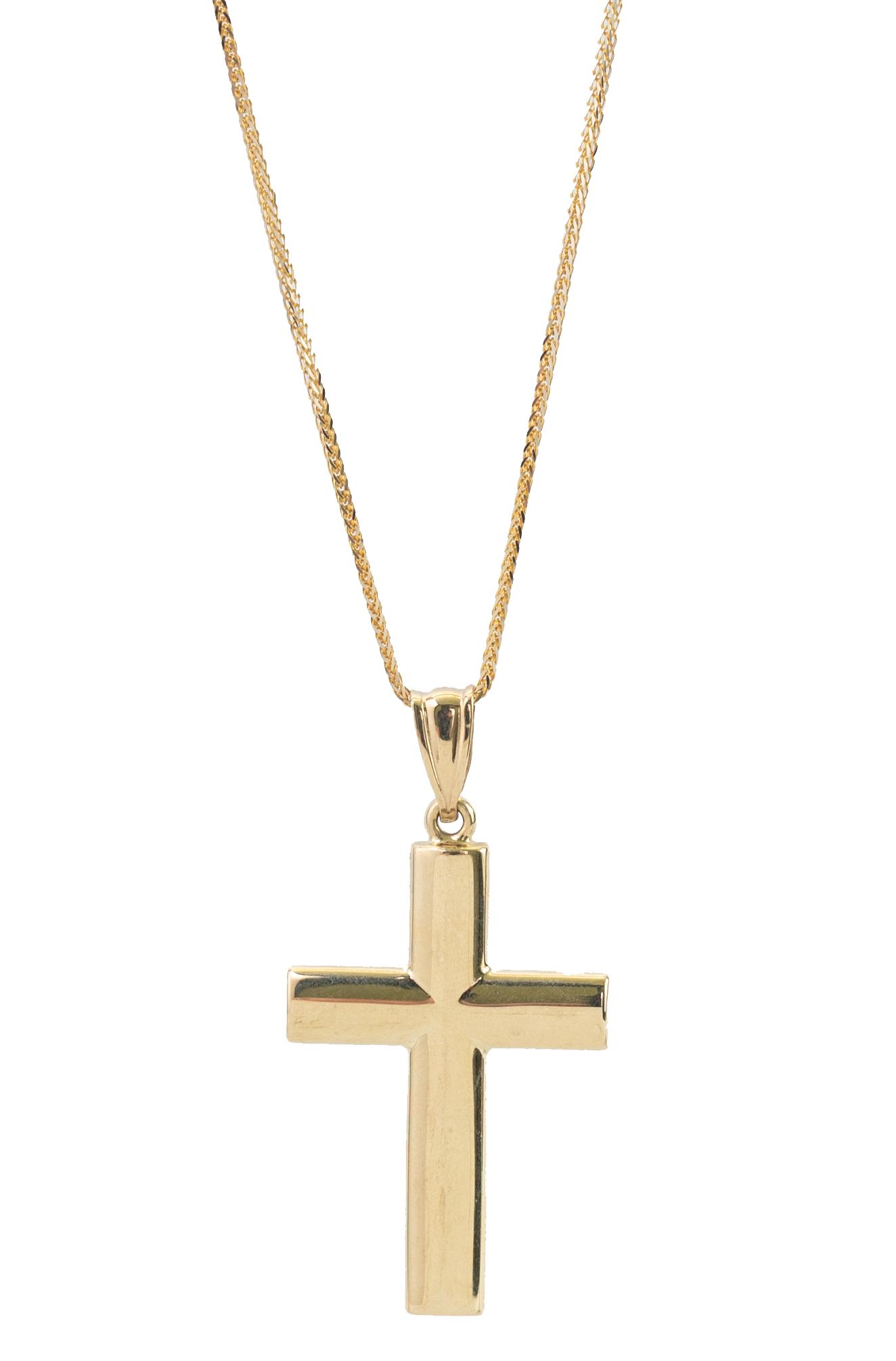 Krzyż złoty gładki , wypukły