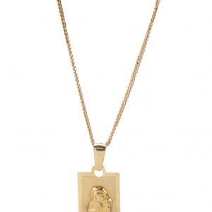 Złoty Medalik dla Chłopca Matki Boskiej Częstochowskiej , prostokątny
