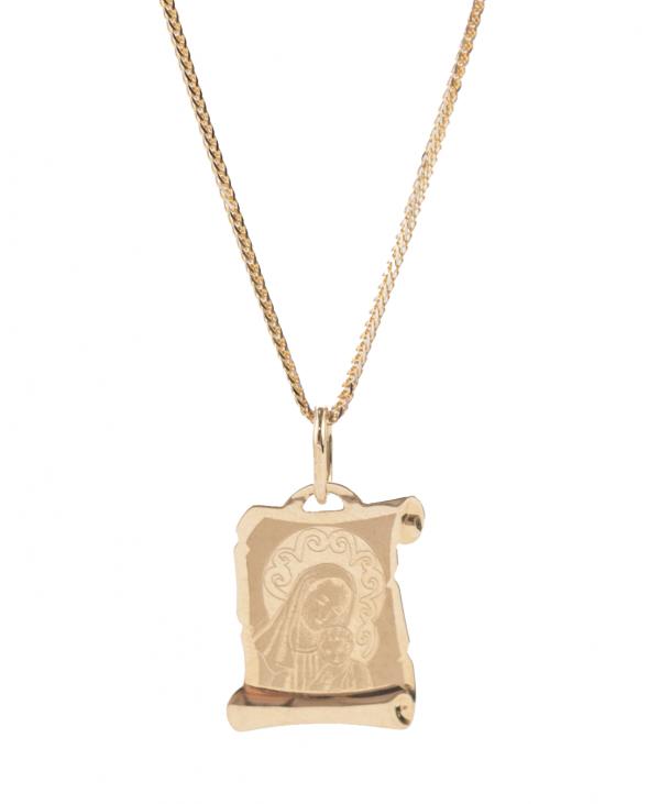Medalik Matki Boskiej na Papirusie - laserowy ( mały )