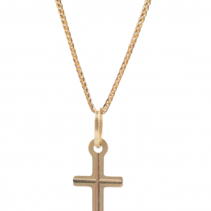 Złoty Krzyżyk na Chrzciny dla chłopca