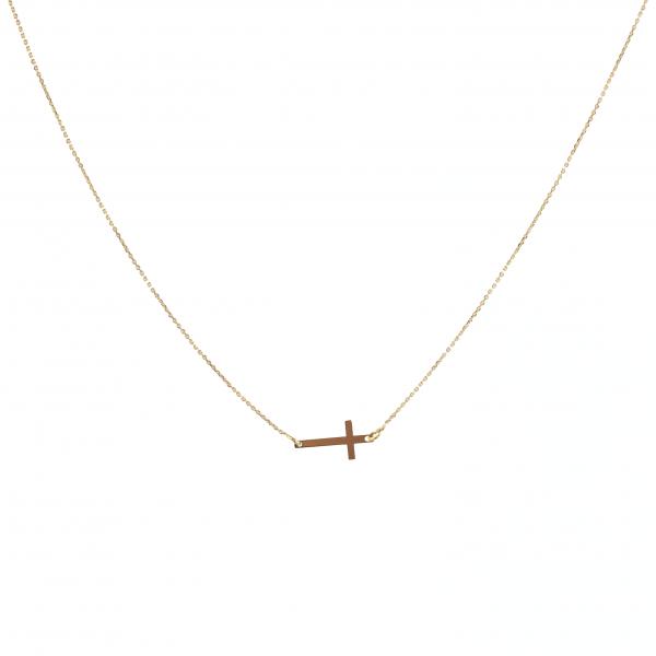 Złota celebrytka z Krzyżykiem, naszyjnik