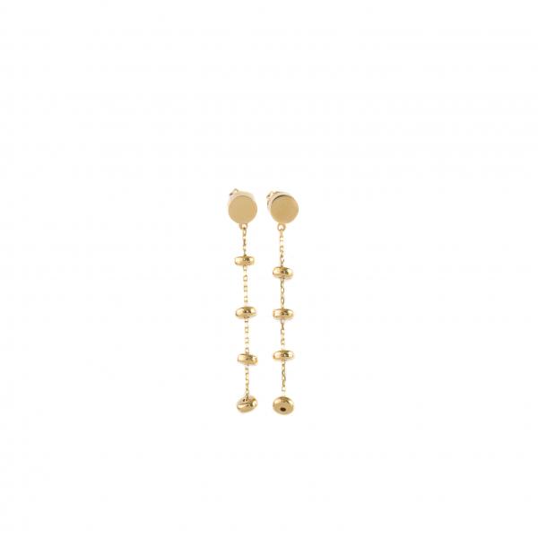 Kolczyki wiszące , złote długie