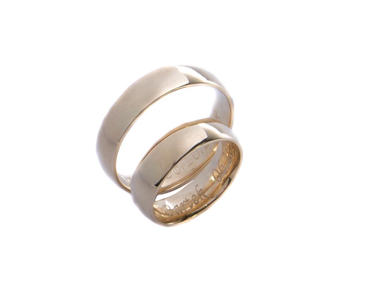 Obrączki ślubne klasyczne 5mm