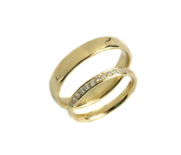 Obrączki z brylantami żółte złoto klasyczne 0.20ct