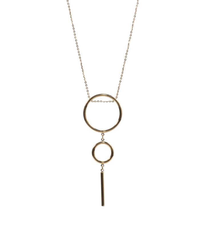 Naszyjnik złoty , kolia złota, minimalizm , minimalistyczny naszyjnik.