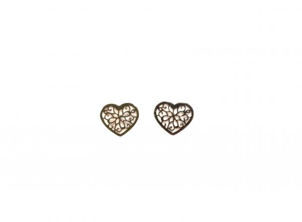 Kolczyki złote celebrytki ażurowe na sztyfty