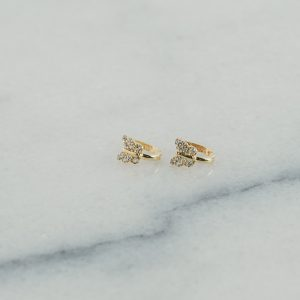 Kolczyki złote motylki , angielskie zapięcia