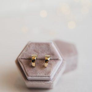 Kolczyki złote na sztyfty włoski styl