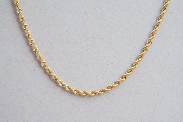 Korda dmuchany szeroki łańcuszek złoty