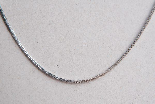 białe złoto łańcuszek lisi ogon bardzo trwały