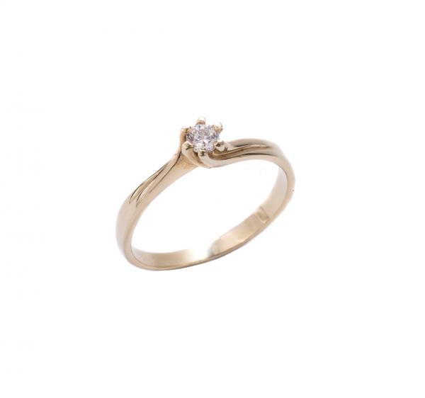 Pierścionek klasyczny białe złoto 0.10ct